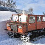 共和の新井農場で雪上車に乗ってプライベート雪原を独り占めし、フライドポテトを試食する旅