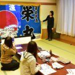 豊浦の「しおさい」で大漁旗と手ぬぐい活用&しおさいバーベキュー