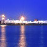苫小牧の港夜景とエゾシカ