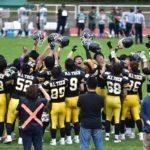 学生のアメリカンフットボール観戦