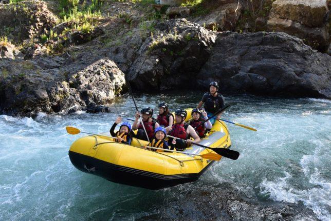 南富良野のシーソラプチ川でラフティング、リトリ・トリー社のツアー