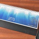 美瑛在住の映像作家・山崎一さんの2019年カレンダー「北海道色景色」が届く