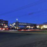 ブルーアワーの風景〜JR江別駅