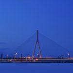 ブルーアワーの風景〜美原大橋