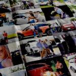 車と人のいい関係を表現したスバルの見開き広告