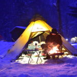 北海道で雪中スノーキャンプ、定山渓自然の村にて
