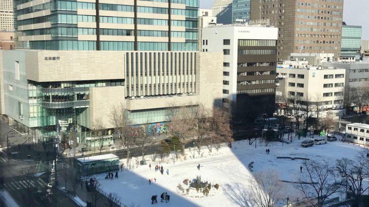 2019年の年末、札幌の風景