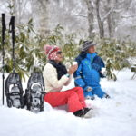 夕張の冷水山山頂でスノーシュー