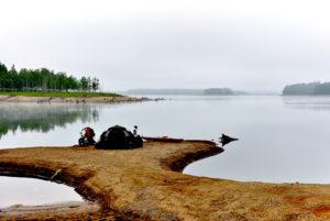 朱鞠内湖のキャンプ場