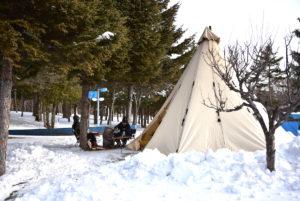 長沼マオイの冬キャンプ