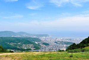 天狗山から見た小樽市