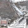 冬の知床、ウトロの名所「オシンコシンの滝」と「フレペの滝」を見に行く