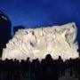 第69回さっぽろ雪まつり、2018年、夜の氷雪像を見てきた